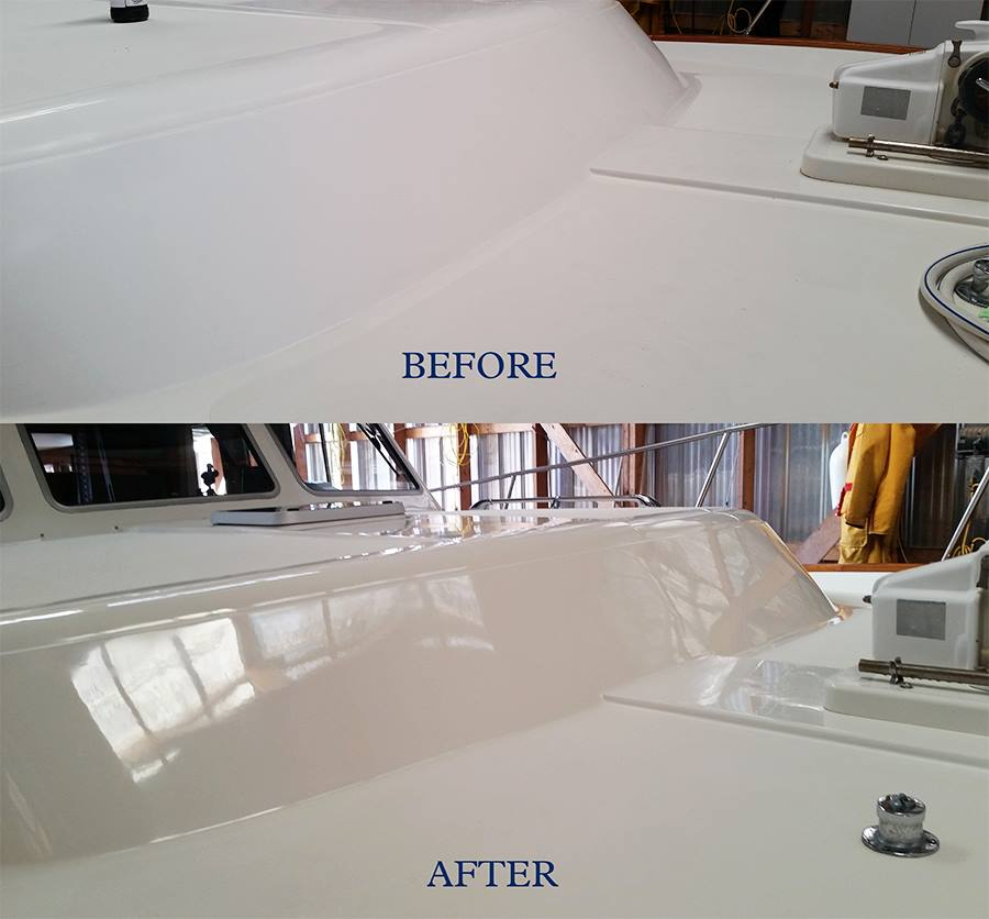before after cut polish wax